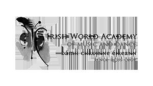 Irish World Academy of Music and Dance- Logo - Black and White
